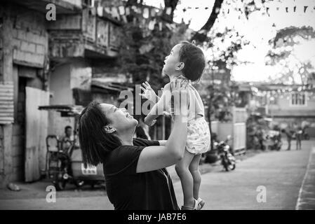 Mutter und Tochter lieben - Stockfoto