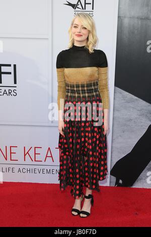 Hollywood, Ca, USA. 8. Juni 2017. Emma Stone bei der American Film Institute Gala zu Ehren Diane Keaton mit dem - Stockfoto