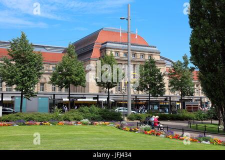 Leipzig Hauptbahnhof Promenaden - Stockfoto