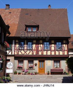 Traditionelles Haus im Dorf Haslach im Schwarzwald Schwarzwald-Region in Deutschland - Stockfoto