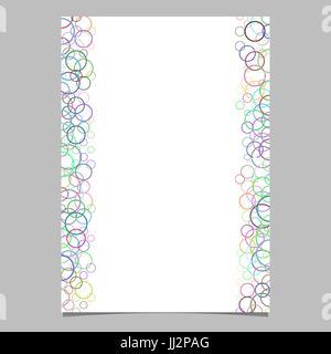 Bunter Kreis Muster Broschüre Vorlage - Vektor-Design von Ringen für Präsentationen, Seitendesigns - Stockfoto