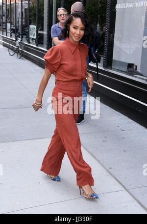 New York, NY, USA. 17. Juli 2017. Jada Pinkett Smith, Förderung ihres neuen Films Mädchen Reise unterwegs für Promi - Stockfoto