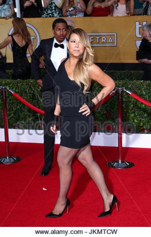 Mariah Carey und Nick Cannon. Mariah Carey und Ehemann Nick Cannon an 20. Annual Screen Actors Guild Awards am The - Stockfoto
