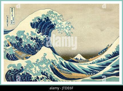 Katsushika Hokusai Japan Vintage Art Poster des Künstlers Katsushika Hokusai als Teil der Serie dreißig - sechs - Stockfoto