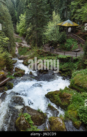 Triberger Wasserfälle, Triberg, Schwarzwald, Baden-Württemberg, Deutschland - Stockfoto