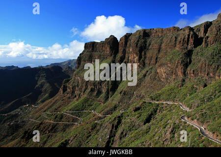 Masca Schlucht, Teneriffa, Kanarische Inseln, Spanien - Stockfoto