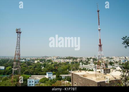 Anzeigen von Hyderabad vom GP Birla Center - Stockfoto
