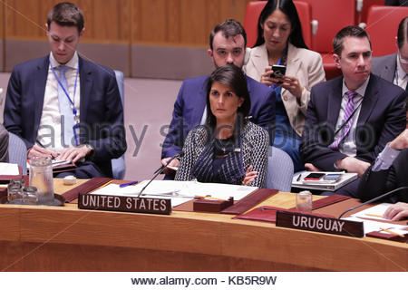 New York, USA. 28 Sep, 2017. Vereinten Nationen, New York, USA, 28. September 2017 - Nikki R. Haley, United States - Stockfoto
