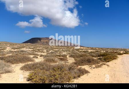 Landschaft in Insel La Graciosa, Kanarische Inseln, Spanien - Stockfoto