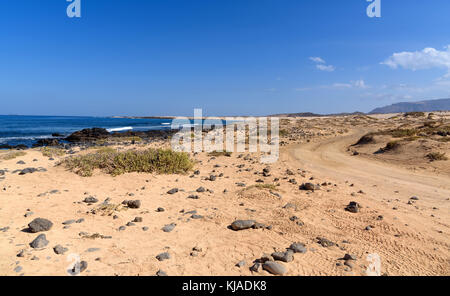 Landschaft der Insel La Graciosa, Kanarische Inseln, Spanien - Stockfoto