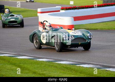 1955 Aston Martin DB 3 s im Besitz und unter der Leitung von Steve boultbee Brooks racing in der Freddie März Memorial - Stockfoto