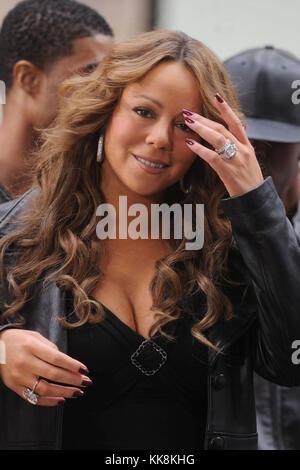 New York - 02 Oktober: Sängerin Mariah Carey und ihr Ehemann Schauspieler Nick Cannon auf NBC's 'Heute' im Rockefeller - Stockfoto
