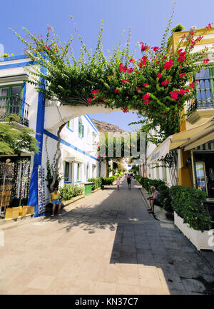 Puerto Mogan, touristische Destination auf Gran Canaria, Kanarische Inseln, Spanien. - Stockfoto