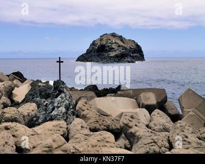Kleine Stadt Garachico im Norden von Teneriffa, Kanarische Inseln, Spanien. - Stockfoto