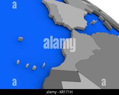 Marokko auf politische Erde Modell - Stockfoto