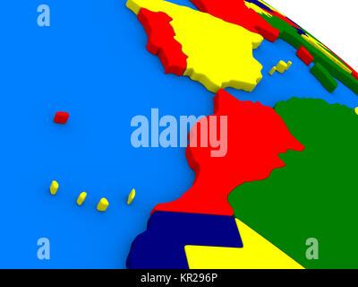 Marokko auf bunten 3D-Globus - Stockfoto