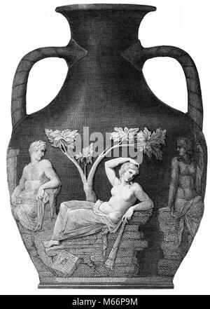 Abbildung Unten Portland Vase Rmische Kamee Glas Vase Derzeit