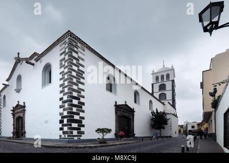 Der hl. Ana Kirche in der kleinen Stadt Garachico auf Teneriffa auf den Kanarischen Inseln von Spanien - Stockfoto