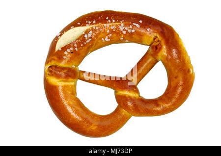 Typisch deutsche Brezel als traditionell gebacken in Bayern und Schwaben. - Stockfoto