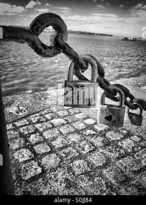 Schlösser und dock - Stockfoto