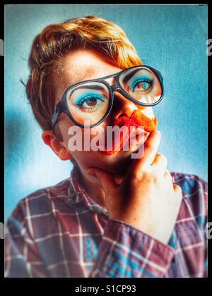 Komödie-Schnurrbart und Brille - Stockfoto