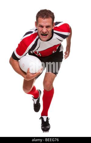 Jugador de rugby - parte de una serie Foto de stock