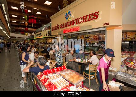 Lías sándwiches, food court, Asian Garden Mall, la ciudad de Westminster, en el condado de Orange, California Foto de stock