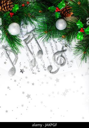 Foto de árbol de Navidad frontera, silver clef agudo, festivo en la ...