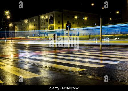Región Wielkopolska, Poznan, Polonia. 31 ene, 2018. Enero 31, 2018 - Poznan, Polonia - Los paisajes pintados por Foto de stock