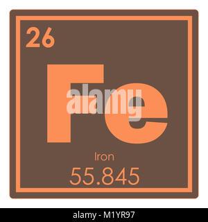 tabla peridica de elementos qumicos de hierro smbolo de ciencia foto de stock - Tabla Periodica De Los Elementos Hierro