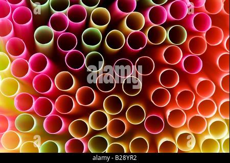 Pailles colorées abstract pattern Banque D'Images