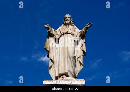 Jésus Christ Sculpture Antique à Old Goa , Inde Sacré Cœur de Jésus Banque D'Images