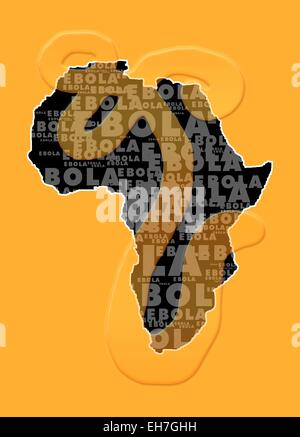 L'épidémie d'Ebola, conceptual artwork Banque D'Images