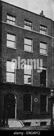 Lieu de naissance de John Ruskin, Hunter Street, Brunswick Square, Londres. JR: Victorian poète, artiste, philosophe Banque D'Images