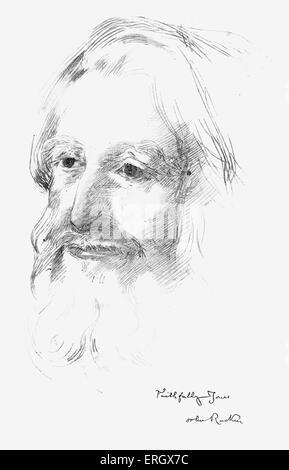 John Ruskin, auteur anglais, poète, critique d'art, artiste et critique sociale. 8 février 1819 - 20 janvier 1900. Banque D'Images