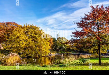 L'automne à Hambourg Banque D'Images