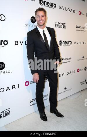 Los Angeles, CA, USA. Feb 26, 2017. Justin Hrtley aux arrivées pour 2017 Elton John AIDS Foundation Academy Awards Banque D'Images