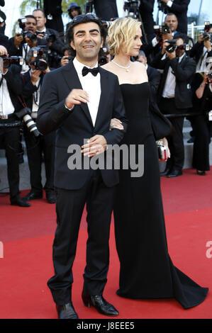 Cannes, Frankreich. 28 mai, 2017. Fatih Akin et Diane Kruger à la fermeture de nuit du 70 Festival du Film de Cannes Banque D'Images