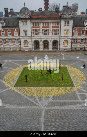 Londres, Royaume-Uni. 11 avril 2018. L'exposition, sur les flux Rootstein Hopkins Parade Ground de Chelsea College of the Arts Il sera présent du 11 au 15 avril 2018. Crédit : Guy Bell/Alamy Live News Banque D'Images