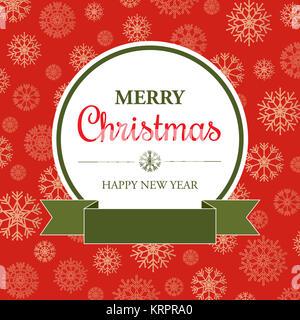 Incredibile scheda di Natale in stile retrò Foto Stock