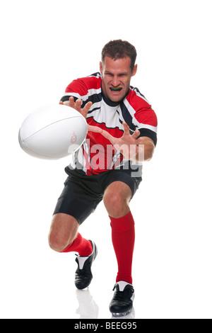 Rugby jogador - parte de uma série Foto de Stock