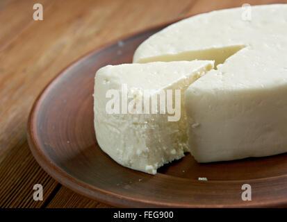Circassiano queijo - encontrados em toda a região do Norte do Cáucaso, a Levant e outras áreas com uma Circassiano Foto de Stock