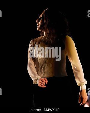 Londres, Reino Unido. 18 de Fev, 2018. Ursula Lopez, realizando como parte do Flamenco festival no Sadler's Wells. Foto de Stock